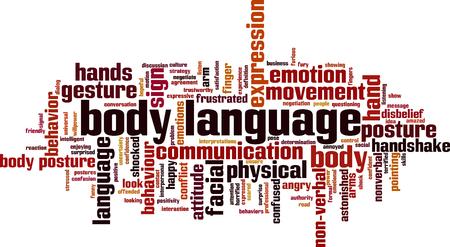Foto de Body language word cloud concept. Vector illustration - Imagen libre de derechos