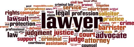 Illustration pour Lawyer word cloud concept. Vector illustration - image libre de droit