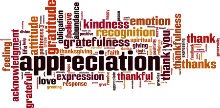 Ilustración de Appreciation word cloud concept. Vector illustration - Imagen libre de derechos
