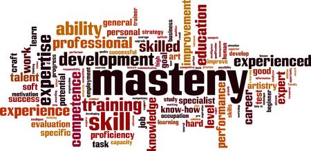 Ilustración de Mastery word cloud concept. Vector illustration - Imagen libre de derechos