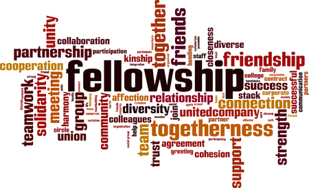 Ilustración de Fellowship word cloud concept. Vector illustration - Imagen libre de derechos