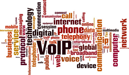 Illustration pour VoIP word cloud concept. Vector illustration - image libre de droit