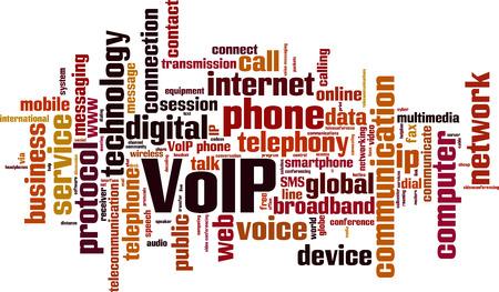 Ilustración de VoIP word cloud concept. Vector illustration - Imagen libre de derechos