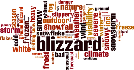 Illustration pour Blizzard word cloud concept. Vector illustration - image libre de droit