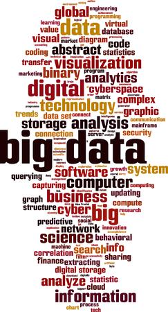 Illustration pour Big data word cloud concept. Vector illustration - image libre de droit