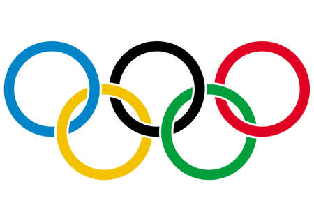 Photo for Olympics rings - symbol of Olympic games  Isolated on white background  Vector illustration  - Royalty Free Image