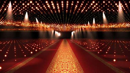 Photo pour Red Carpet Festival Glamour Scene Illustration - image libre de droit