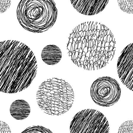 Ilustración de Vector abstract Hand drawn background for design and decoration textile, covers, package, wrapping paper. - Imagen libre de derechos