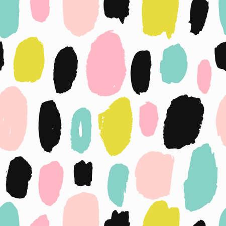 Illustration pour Trendy vector seamless pattern with brush strokes. - image libre de droit