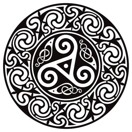 Ilustración de Round Celtic Design. Celtic mandala - Imagen libre de derechos