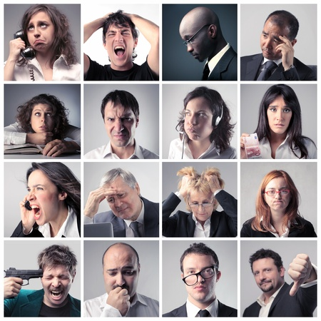 Foto de Collage of stressed business people - Imagen libre de derechos