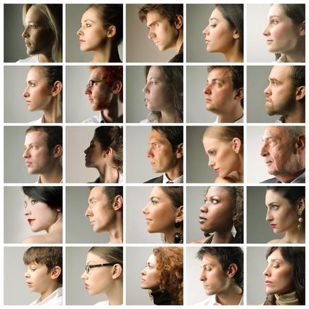 Foto de Composition of people's profiles - Imagen libre de derechos