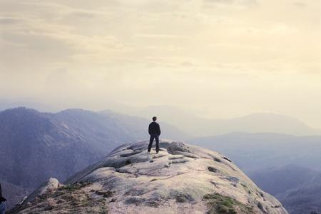 Man observing the landscapeMan observing the landscape