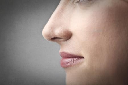 Foto de woman s nose - Imagen libre de derechos