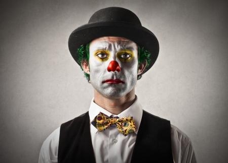Foto de sad bored clown - Imagen libre de derechos