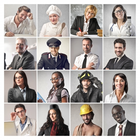 Photo for different workers - Royalty Free Image
