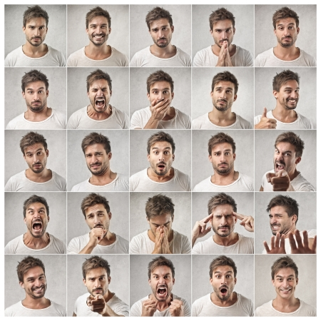 Foto de different expressions of a same man - Imagen libre de derechos
