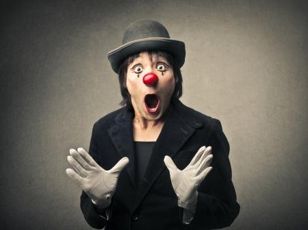 Foto de amazed clown - Imagen libre de derechos