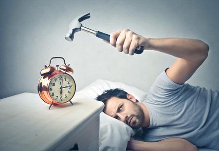Photo pour hate the alarm clock - image libre de droit