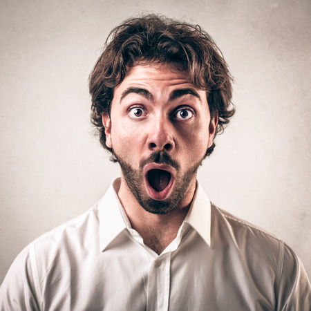 Foto de shocked face guy  - Imagen libre de derechos