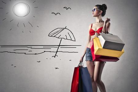 Foto für shopping girl - Lizenzfreies Bild