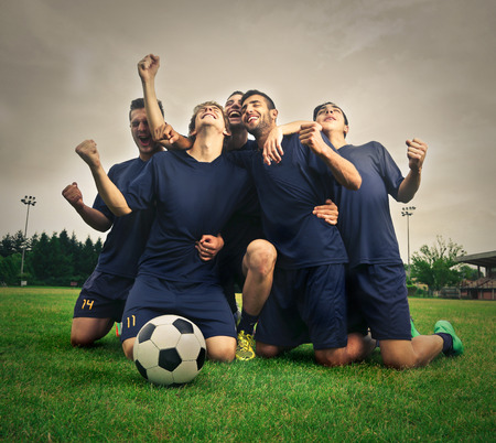 Photo pour Football team - image libre de droit