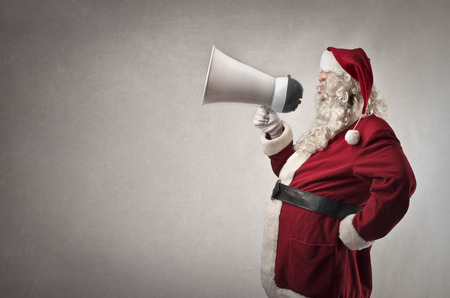 Photo for Santa Claus announcing something - Royalty Free Image
