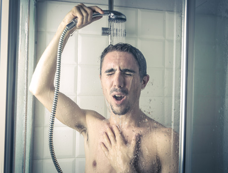 Photo for singing in the shower - Royalty Free Image