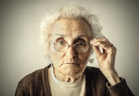 Photo pour Elderly woman\\ - image libre de droit