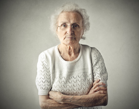 Photo pour A severe grandmother - image libre de droit