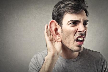Photo pour I cannot hear you - image libre de droit
