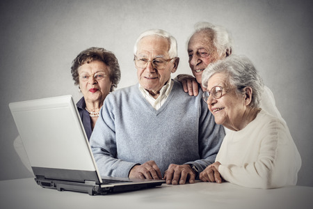 Photo for A group of elderly people using technology - Royalty Free Image