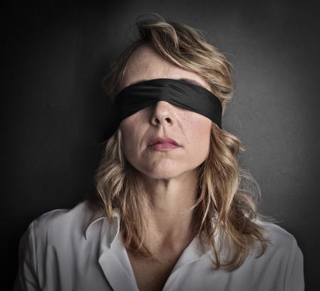 Photo pour Blind woman - image libre de droit