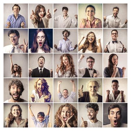 Photo pour Successful expressions - image libre de droit