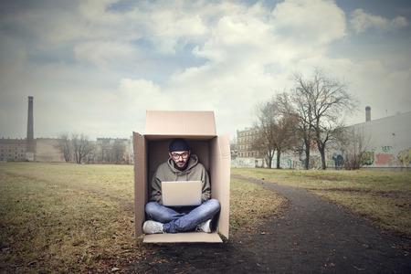 Foto de Working inside the box - Imagen libre de derechos