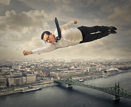 Foto de Flying man - Imagen libre de derechos