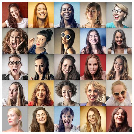 Foto de Colorful portraits of women - Imagen libre de derechos