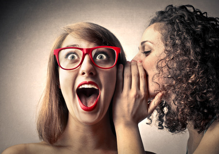 Photo for Woman tell Secrets and her friend surprise - Royalty Free Image