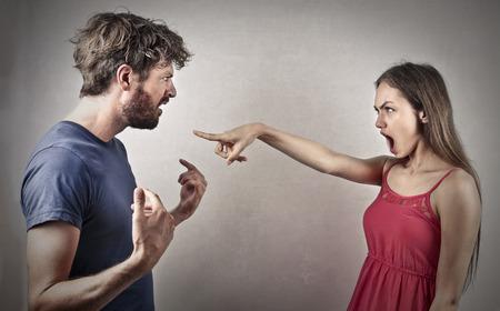 Photo pour Couple arguing - image libre de droit