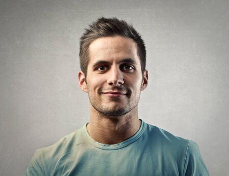 Photo pour Smiling man's portrait - image libre de droit