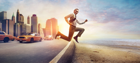 Photo for Running businessman - Royalty Free Image