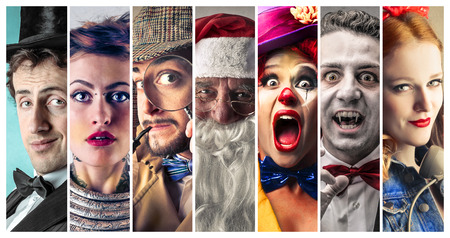 Foto de People wearing funny costumes - Imagen libre de derechos