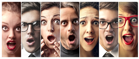 Photo pour Surprised people - image libre de droit