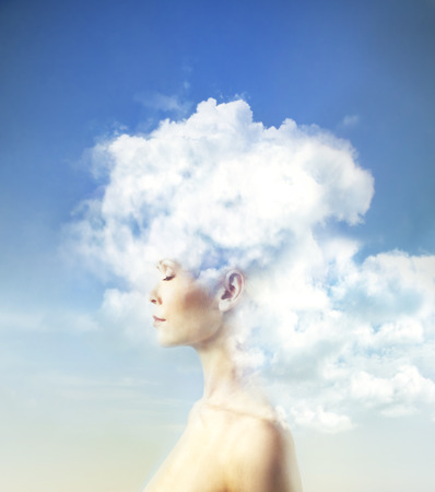Photo pour Mind in the clouds - image libre de droit