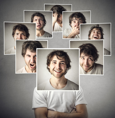 Photo for Different moods of the same man - Royalty Free Image