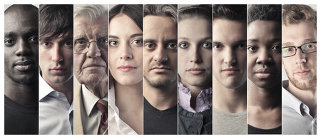 Foto per Serious people's faces - Immagine Royalty Free