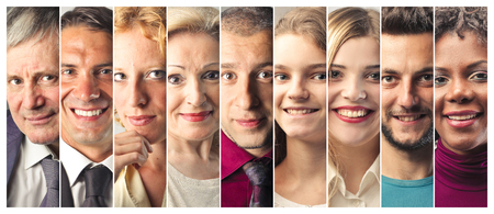 Foto per Smiling people's portraits - Immagine Royalty Free