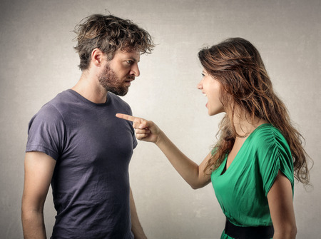 Photo pour Couple in a fight - image libre de droit
