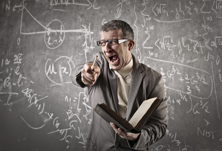 Photo for Angry teacher shouting - Royalty Free Image