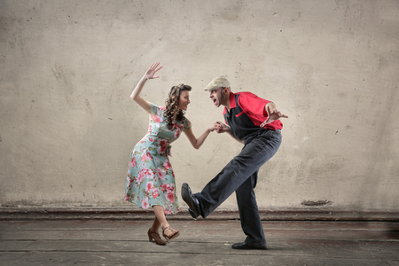 Photo for Man and woman dancing - Royalty Free Image